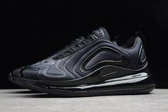Mens Nike Air Max 720 Triple Black Total Eclipse For Latest Sneakers, Casual Sneakers, Air Max Sneakers, Mens Nike Air, Nike Air Vapormax, Nike Men, Green Shoes, Black Shoes, Jordan 11 Blue
