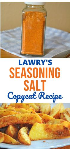 Make your own copycat Lawry's seasoned salt with this easy and delicious recipe. This seasoning adds great flavor to chicken, fish, homemade Chex Mix or almost anything! Homemade Chex Mix, Homemade Fajita Seasoning, Homemade Spice Blends, Burger Seasoning, Homemade Spices, Homemade Seasonings, Spice Mixes, Chili Seasoning, Homemade Food
