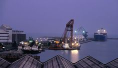 A view over Takoradi Port, Ghana