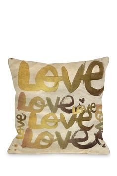 "Oliver Gal by One Bella Casa ""Four Letter Word"" Pillow"