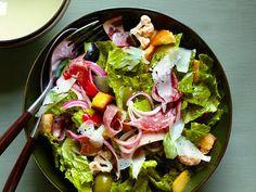 Food Network Magazine: Light Italian Sub Salad Recipe Italian Sub Salad Recipe, Italian Salad, Italian Foods, Italian Dressing, Italian Pasta, Italian Cooking, Italian Recipes, Food Network Recipes, Cooking Recipes