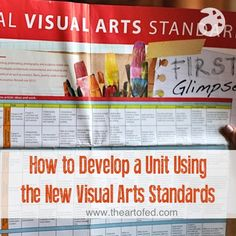 How to Develop a Unit Using the New Visual Arts Standards