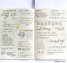 Weekly Overview | 25 Satisfying Bullet Journal Layouts That'll Soothe Your Soul