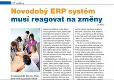 Novodobý ERP systém musí reagovat na změny.