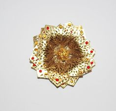 Joan Rivers Flower Brooch with Crystals  S1156 by SCLadyDiJewelry