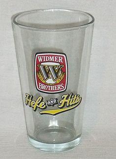 """www.jaedasplaythings.com Widmer Brothers Beer Glass Pint Hefe And Hits 5.75"""""""