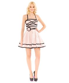 I got this dress for $80 at the Betsey Johnson liquidation sale in NYC!  DRESDEN DOLL FULL SKIRT DRESS