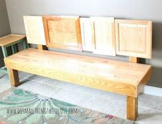 s rip off your cabinet doors for these brilliant upcycling ideas, doors, kitchen cabinets, kitchen design, Attach different ones into a unique bench