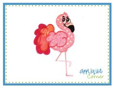 Flamingo Applique Design