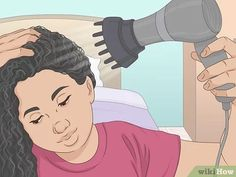 3 Ways to Follow the Curly Girl Method for Curly Hair - wikiHow Make Hair Curly, Kinky Curly Hair, Curly Hair Tips, How To Make Hair, Wavy Hair, Curly Hair Styles, Red Hair, Vixen Sew In, U Part Wig