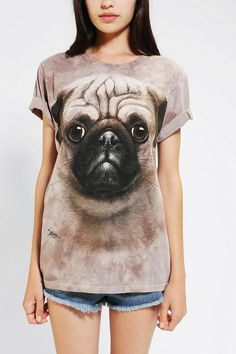 FRIENDS: My birthday is SEPT 4. cough cough.   The Mountain Pug Oversized Tee #urbanoutfitters