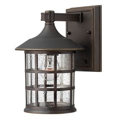 Hinkley Lighting Outdoor Wall Light with Clear Glass in Oil Rubbed Bronze Finish 1800OZ-GU24