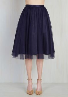 Pointe of View Skirt in Navy. Express yourself with graceful flair in this whimsical dark blue skirt. #blue #wedding #modcloth