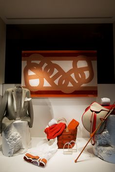 Summer 2013, Hermès 24 Faubourg Saint-Honoré, Paris. #hermes #windows #vitrine
