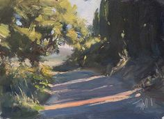 Chemin du matin A Daily painting by Julian Merrow-Smith