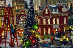 Andrew Hughes of Masqueman Photography and Design - Atlanta, GA: Photographing a Miniature Christmas City by Depart...