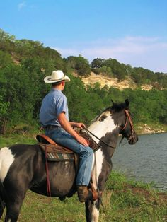 Horseback riding at Brazos Bluffs Ranch