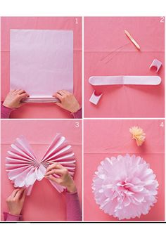 DIY Party Decorations These might be easier to make than the cupcake papers and coffee filters decor. If the ceilings are not too tall we could do this in Red, White, and Silver (large paper pom poms) Diy Party Decorations, Birthday Decorations, Graduation Decorations, Bachelorette Decorations, Casino Decorations, Decor Diy, Decor Room, Graduation Ideas, Paper Decorations