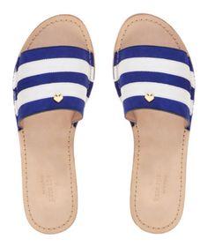 Kate spade sandal summer blue white stripe classic