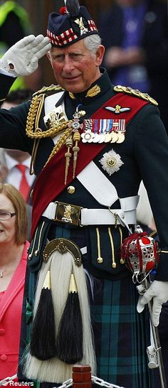 Prince Charles in Full get up. Armed Forces Day in Edinburgh, Scotland