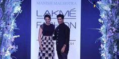 Manish Malhotra at Lakme Fashion Week Summer Resort 2014 Sonakshi Sinha black and white lehnga Bollywood Photos, Bollywood Fashion, Lakme Fashion Week, India Fashion, Tarun Tahiliani, Traditional Indian Wedding, Manish Malhotra, White Embroidery, Wedding Wear