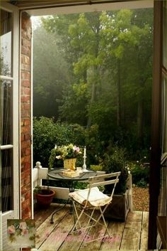 Wooded Private Porch via Pinterest