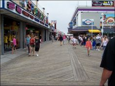 Shops, arcades, candy stores, and all sorts of wonderful beach food... this is the Ocean City MD boardwalk.