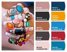 Pick paint colors using your favorite fashion accessories.