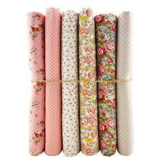 Dropship pink series polka dot prints cotton fabric patchwork fabrics for sewing tilda textiles cloth 6pcs/lot 45*50cm 6P-17