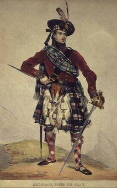 scottish art | Chief of a Scottish Clan - Eug猫ne Dev茅ria as art print or hand ...