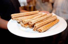 Serve churros as a late night snack!