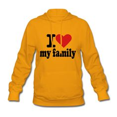 I Love My Family Women's Hooded Sweatshirt Yellow Women's Hooded... ($41) ❤ liked on Polyvore featuring tops, hoodies, hooded sweatshirt, cotton hooded sweatshirt, orange pullover hoodie, sweatshirt hoodies and cotton hoodies