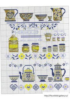 cross stitch kitchen