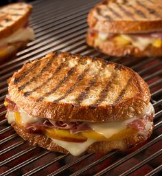 Fresh peaches, thinly sliced prosciutto and melted cheese make this grilled sandwich the best summer meal.