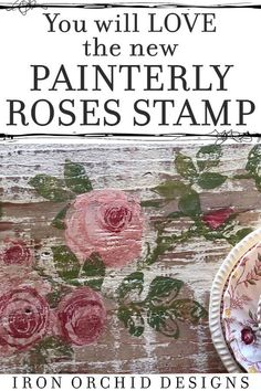 In love with roses? Want to add a touch of whimsy and beauty to your DIY projects? From walls to furniture, these beautiful Decor Stamps from Iron Orchid Designs will make it feel like you are living in a rose garden! Orchard Design, Farmhouse Style Furniture, Iron Orchid Designs, Small Space Interior Design, Home And Deco, Furniture Makeover, Furniture Refinishing, Painted Furniture, Refurbished Furniture