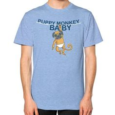 Puppy Monkey Baby Shirt Unisex T-Shirt (on man)