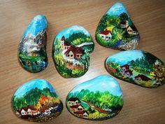 Maľované kamene « Galerie | Kreatívny blog Janky Pullmannovej, video návody