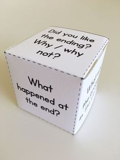 """Guided reading can get repetitive. To change things up, try making these comprehension question dice so that your groups can play """"roll a question."""" This fiction die is part of the Guided Reading Resource Pack for Level C - click through to read more abou Guided Reading Lesson Plans, Guided Reading Activities, Kindergarten Reading, Teaching Reading, Readers Workshop Kindergarten, Poetry Activities, Kindergarten Blogs, Literacy Games, Reading Skills"""