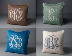 Tons of Great Monogram Pillows - Kyle Bunting
