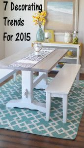 7 Decorating trends for 2015