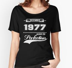 """""""December 1977"""" Women's Fitted Scoop T-Shirts by langturungxanh 