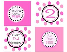 PINKALICIOUS/PINK Party Printable Cupcake Toppers