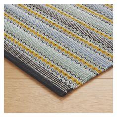 AGNES Blue stripe cotton runner 75 x 250cm | Buy now at Habitat UK