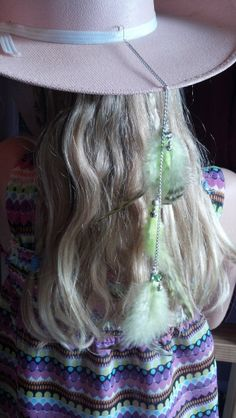 Cowgirl or cowboy hat feather hanging extension by AngelBums, $10.00