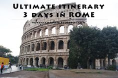 Ultimate travel guide about Rome, Italy. Check our tips how to visit this beautiful city for 3 days. 3 Days In Rome, Ultimate Travel, Rome Italy, Travel Photos, Travel Guide, Dreams, City, Check, Blog