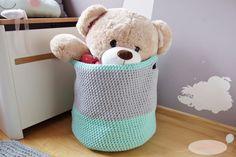 Kosz ze sznurka - TUTORIAL #1 Hamper, Fabric Flowers, Pin Up, Organization, Handmade, Diy, Home Decor, Crochet, Manualidades