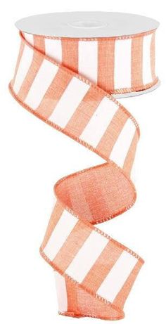 Excited to share this item from my #etsy shop: Coral White Horizontal Stripe wired Ribbon, 1.5 Inch Wired Ribbon, Coral and White ribbon, Farmhouse ribbon, Deco Mesh Supplies, RX914876 #orange #hatmakinghaircrafts #white #canvas #waysidewhimsy #wreathsbyrobin Coral Aqua, Pink Blue, Yellow Black, Grey And White, Wreath Supplies, Craft Supplies, Ann Wood, White Ribbon, Hat Making