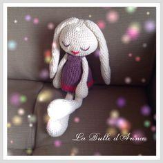 Doudou amigurumi lapin au crochet pour petite fille : Jeux, jouets par labulledanna