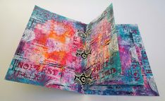 Inky Dinky Doodle: Wanderlust week #48: Art journal from recycled cards