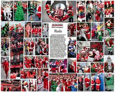 Nice photo collage of SantaCon